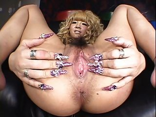 Satsuki Close-up Japanese Pussy Play!! Watch Her Nails!!!!!!