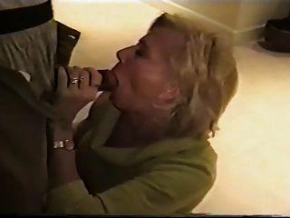 Granny Sucks Black Cock