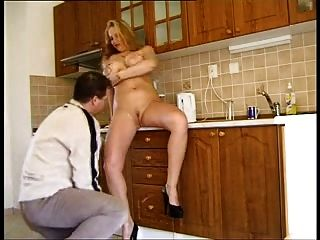 Busty Kitchen Fuck