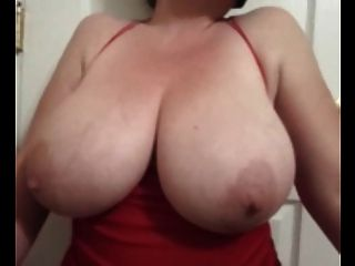 Bbw Lateshay Red Mini & Black Stockings 36 G Saggy Tits