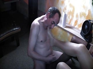 Double Footjob And Cum On Stockings