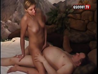 Blonde Teen With Fat Guy
