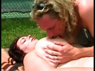 Chubby Brunette Showing And Fucking At The Tennis Court