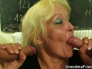 Mature Teacher Fucked By Her Students