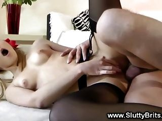 Babe In Stockings Gets Anally Fucked By Old Guy