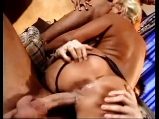 German Mature With Big Boobs Fucked By 3 Men