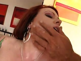 Tattooed Redhead Banging Two Guys...usb