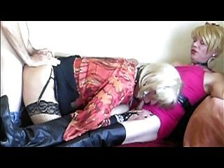 Cyndee Eats A Load From Wendy Janes Ass (part 1)