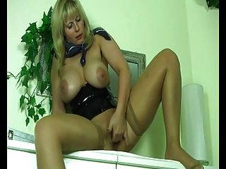 Fat Chubby Blonde Milf Masturbating Her Pussy And Squirting