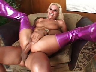 Blond Cindy Crawford Double Anal