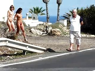 Naomi1 Nude On A Road Side