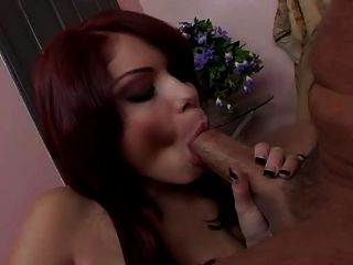 Redhead Paige Love Sucks His Cock For A Huge Facial
