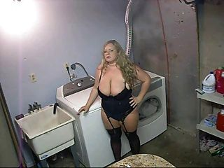 Hot Bbw In Heels And Lingerie Smoking Solo