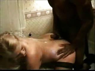 Amateur Interracial Woman Gets Slammed
