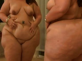 Bbw In Front Of Mirror