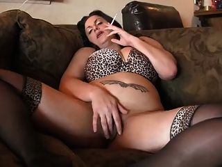 Hot Curvy Mature Bbw Smoking And Diddling