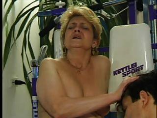 Granny Fucks In The Gym