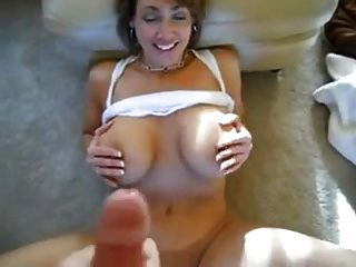 Wanking-off On Her #1 (cougar)