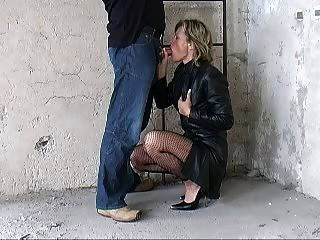 German Fantastci Blow Part 2 Leather Coat Heels
