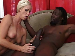 Black Cum For A Blonde Hottie