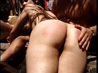 Old Men Share A Slut In The Garden