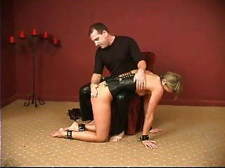 Pussy Clamped And Spanked