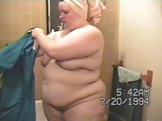 Chubby Wife Getting Out Of Bath