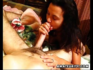 Amateur Girlfriend Homemade Blowjob And Fuck With Cumshot