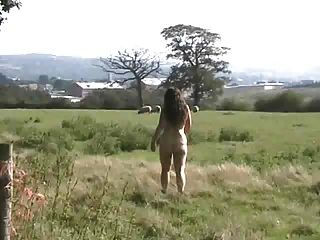 Public Flashing In A Farmers Field