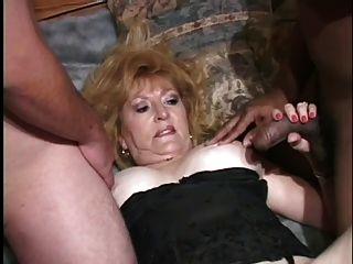 Granny In Hot Threesome