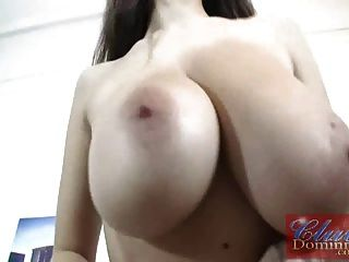 Busty Dominno Shows Her Giant Melons