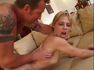 Cute Blonde Is Anal Fucked And Happily Takes Cum