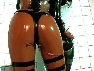 Rubber Strap-on Fuck