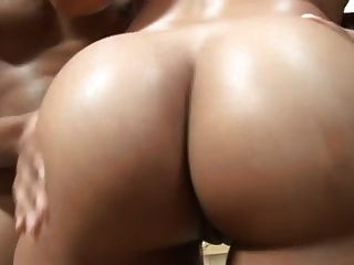 Ebony Slut Serves Two Big Cocks...usb
