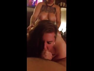 Bbw Threesome- Strap On Fucking