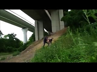 Hot Schoolgirl Fucked Outdoors Under The Highway