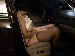 Diane Masturbate In Car