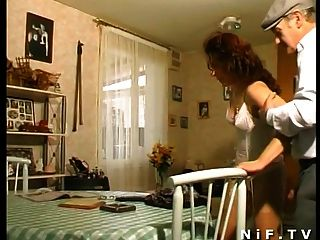 French Mature Anal Fucked In 3way With Papy Voyeur