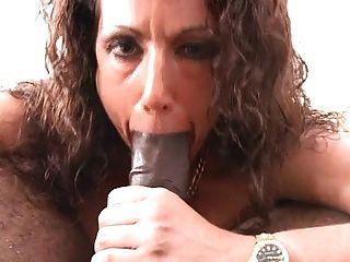 White Woman Talks Dirty, Sucks And Fucks Black Cock