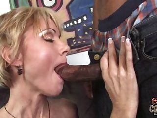 Gorgeous White Mother Fucked By Two Big Black Dongs