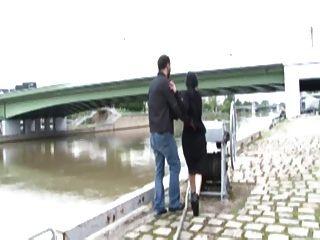 William Deepthroating Romany Near The Seine