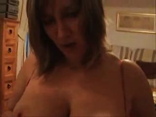 Busty British Milf Takes It In The Face !