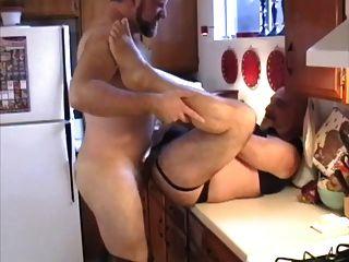 Pareja Se Pega Un Polvo En La Cocina