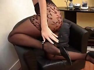 Suzana In Black Pantyhose