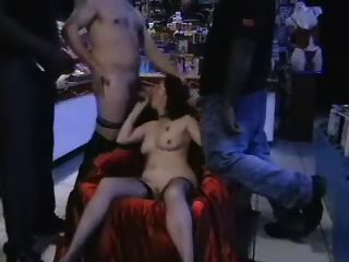 Slut Gangbanged In A Sex Shop