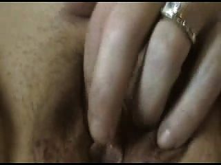 Horny Wife Masturbating Her Wet Creamy Pussy