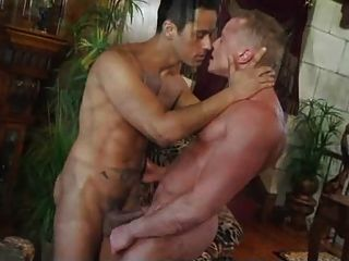 Blue-eyed Boy Riding The Big Dick Of A Tattooed Guy.