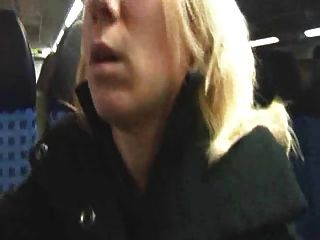 Girl In Boots And Skirt Fucked On Train