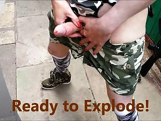 Tranny Army Girl Pretty Kitty Shoots Her Cannon