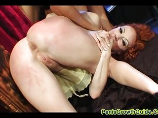 Redhead Babe Get Double Anal Sex